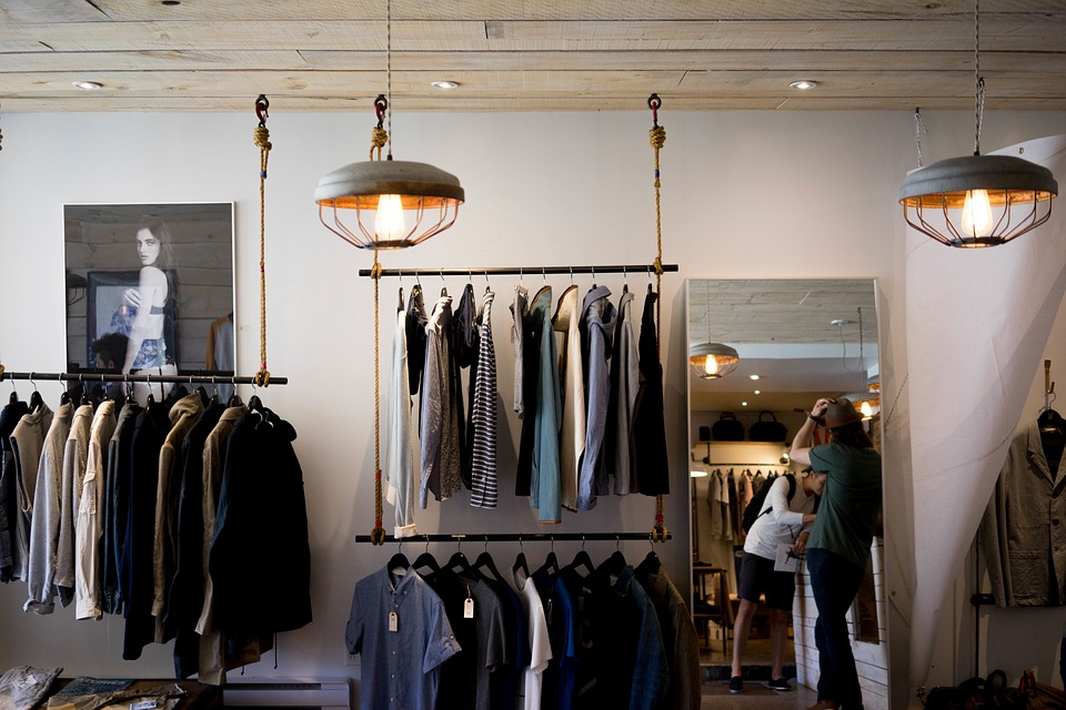 picture of clothing store interior